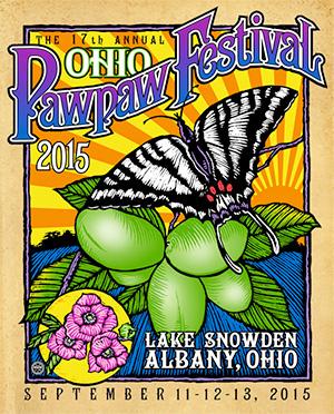 affiche festival asiminier PAWPAW 2015